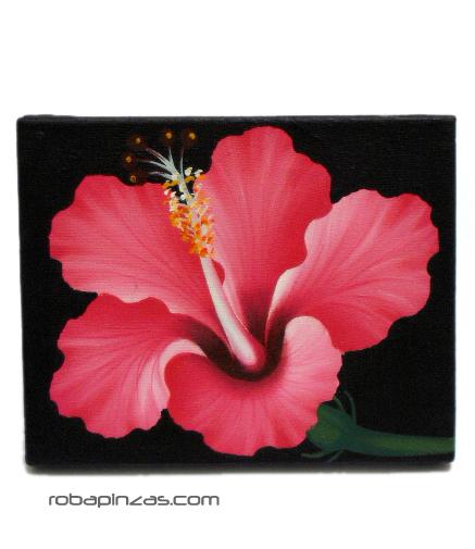 Óleos sobre lienzos motivos de flores. Bastidor de madera. FRLI1_B para comprar al por mayor o detalle  en la categoría de Artículos Artesanales.