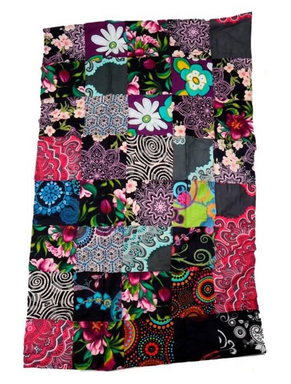 Pareo hippie patchwork estampado. - M201 Comprar al mayor o detalle