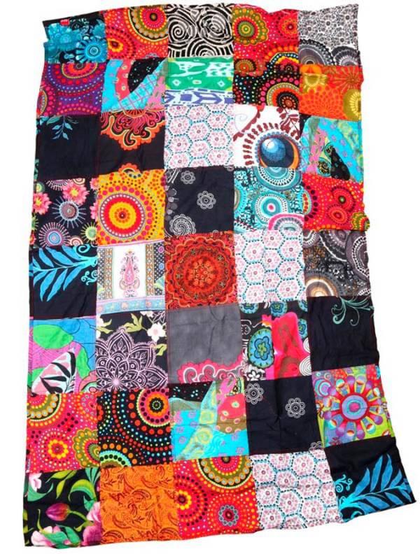 Pareo hippie patchwork estampado. - M203 Comprar al mayor o detalle