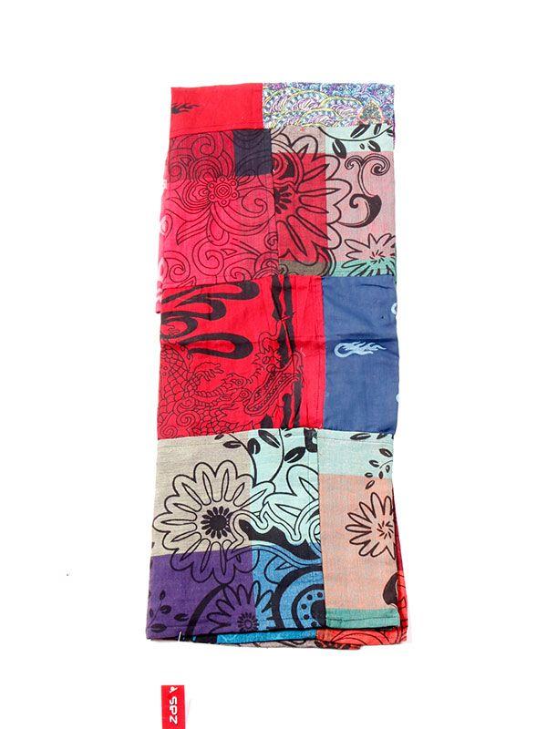 Pareo hippie patchwork estampado. FUHC01 para comprar al por mayor o detalle  en la categoría de Complementos Hippies Étnicos Alternativos.