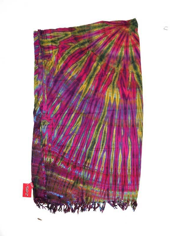 Pañuelos Fulares y Pareos - Pareo Playa vestido Tie Dye FUJU01 para comprar al por Mayor o Detalle en la categoría de Complementos Hippies Alternativos