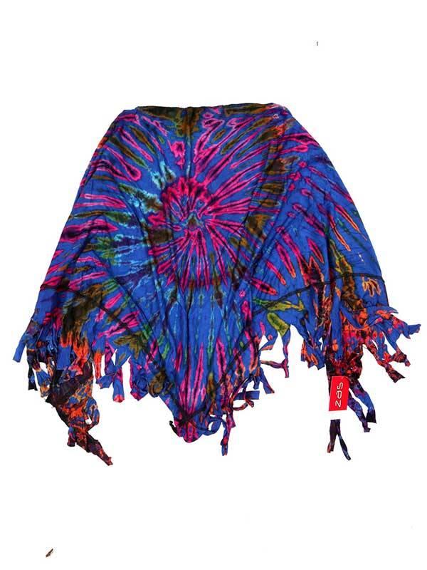 Pañuelos Fulares y Pareos - Chal Triangular Multiuso Tie Dye FUJU02 para comprar al por Mayor o Detalle en la categoría de Complementos Hippies Alternativos