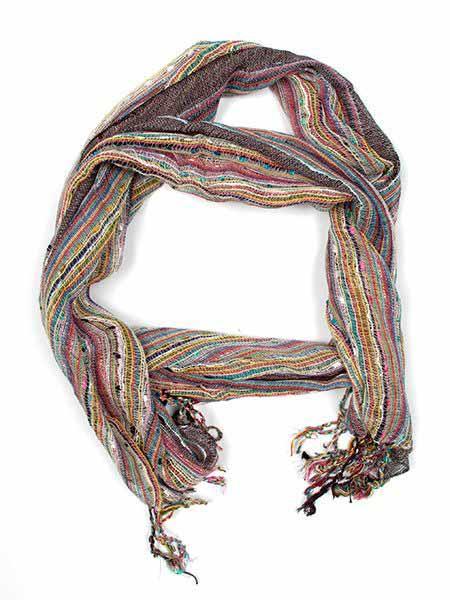 Fular/ pareo de algodón de rayas tejido manualmente medidas Comprar - Venta Mayorista y detalle