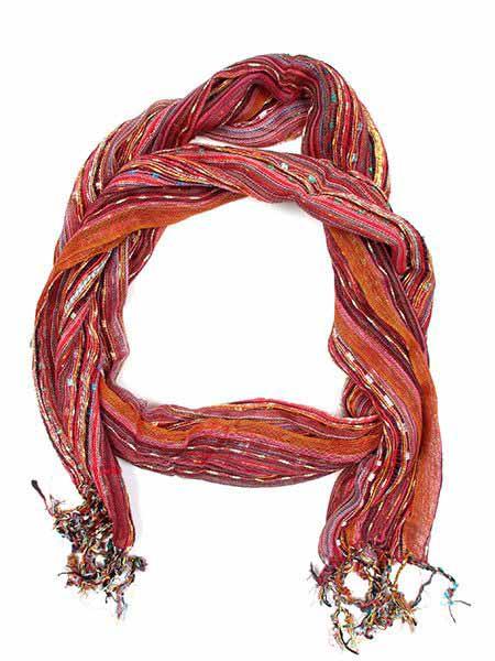 Fular/ pareo de algodón de rayas tejido manualmente medidas 180x50cm Comprar - Venta Mayorista y detalle