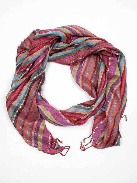 Pañuelo hippie ancho, fular de rayas de colores.Imagenes orientativas, Comprar - Venta Mayorista y detalle