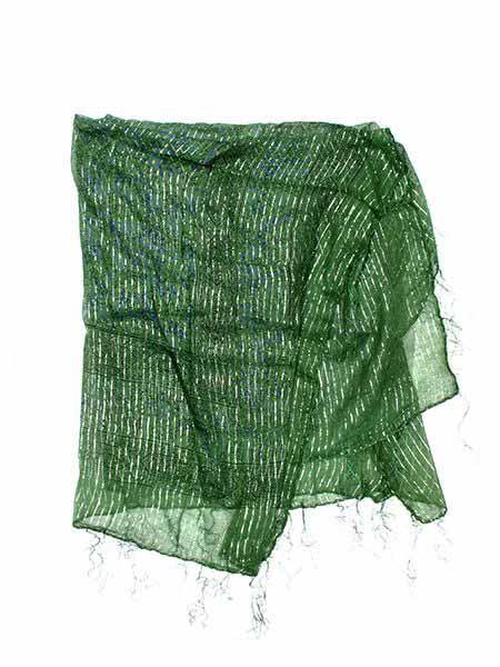Foulard viscosa, brillos - Verde Comprar al mayor o detalle
