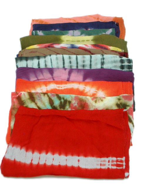 Foulard de rayón, largo, tye dye - detalle Comprar al mayor o detalle