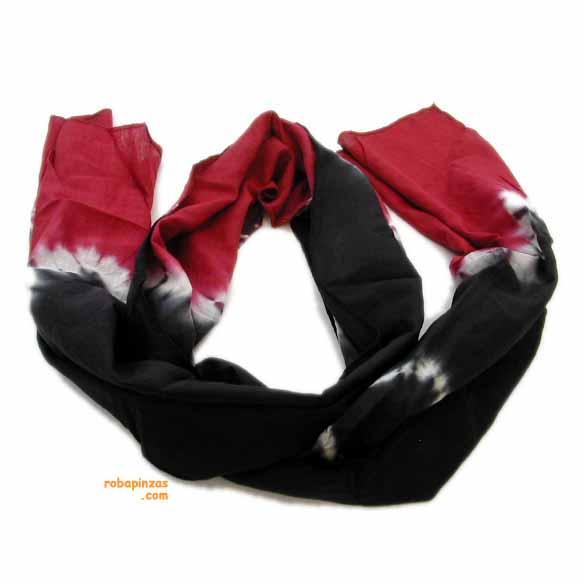 Foulard de rayón, largo, tye dye [FULC2] para comprar al por Mayor o Detalle en la categoría de Pañuelos Fulares y Pareos