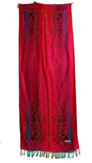 Pashmina decorada con motivos étnicos medidas 200x70cm Comprar - Venta Mayorista y detalle