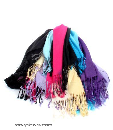 pañuelo estilo pashmina bicolor degradado Comprar - Venta Mayorista y detalle