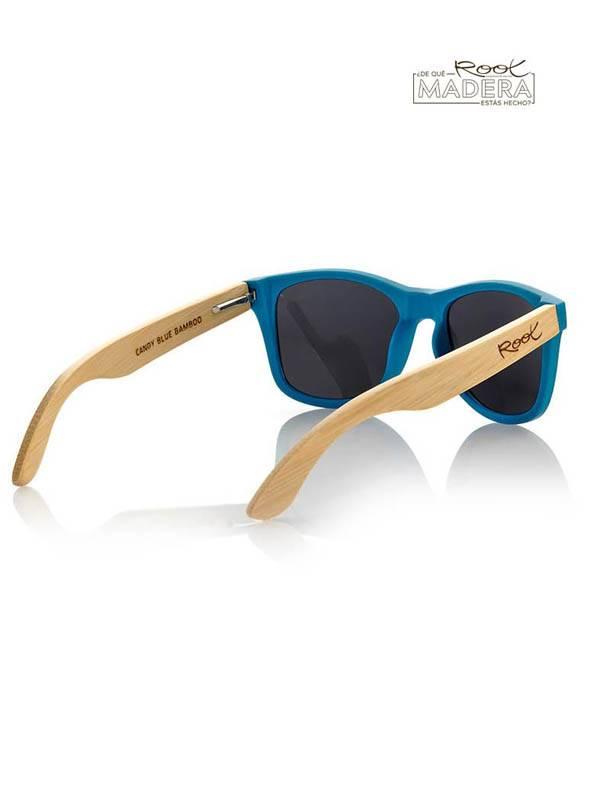 Gafas de sol de Madera MATT BLUE  MIX - Detalle Comprar al mayor o detalle