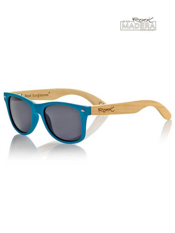 Gafas de sol de Madera MATT BLUE  MIX [GFJA07] para comprar al por Mayor o Detalle en la categoría de Gafas de Sol de Madera Root