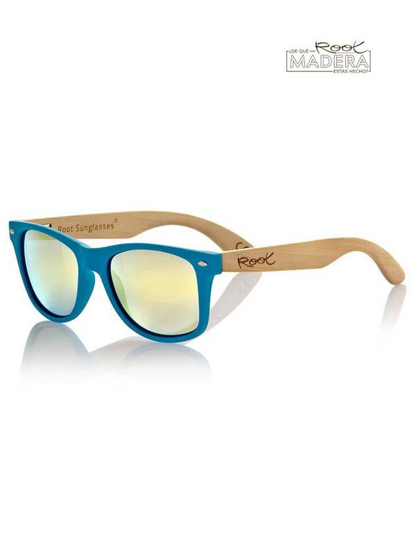 Gafas de sol de Madera MATT BLUE  MIX - Amarillo revo Comprar al mayor o detalle