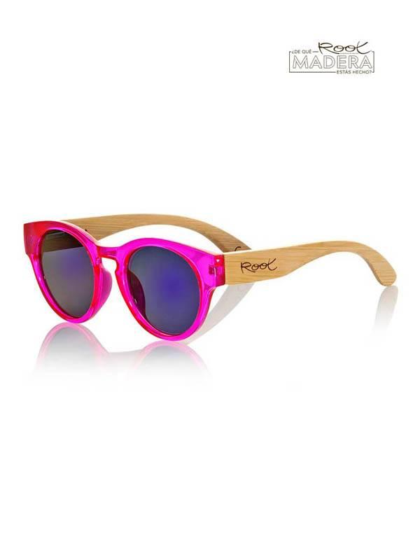 Gafas de Sol de Madera Root - Gafas de sol de Madera GUM PINK MX GFJA10 para comprar al por Mayor o Detalle en la categoría de Complementos Hippies Alternativos
