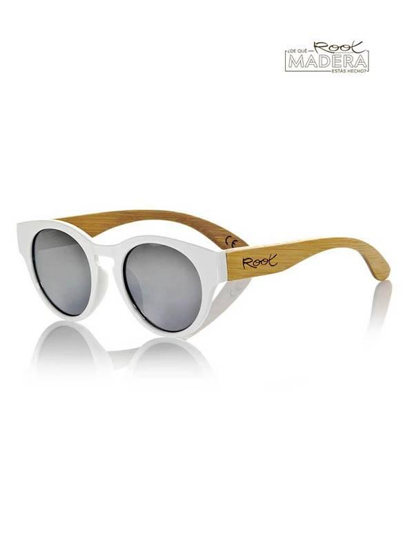 Gafas de sol de Madera GUM WHITE MX [GFJA13] para comprar al por Mayor o Detalle en la categoría de Gafas de Sol de Madera Root