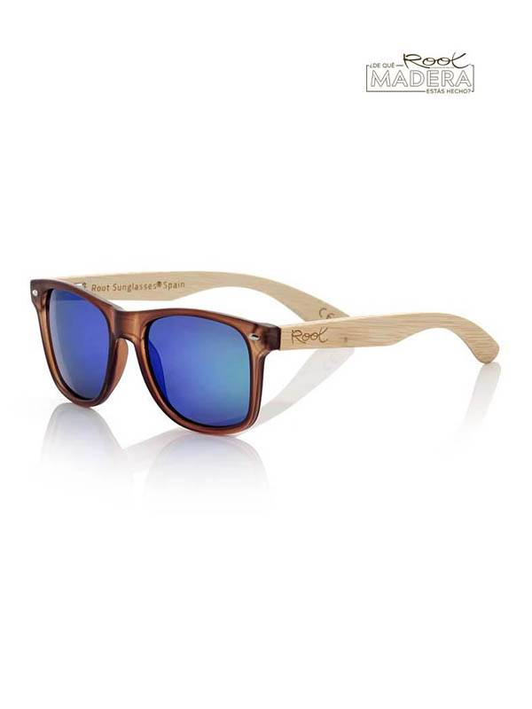 Gafas de Sol de Madera Root - Gafas de sol de Madera SUN BROWN  MIX GFJA39 para comprar al por Mayor o Detalle en la categoría de Complementos Hippies Alternativos