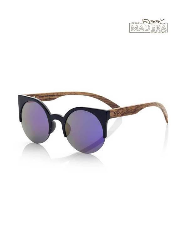 Gafas de Sol de Madera Root - Gafas de sol de Madera CAT BLACK MIX GFJA41 para comprar al por Mayor o Detalle en la categoría de Complementos Hippies Alternativos