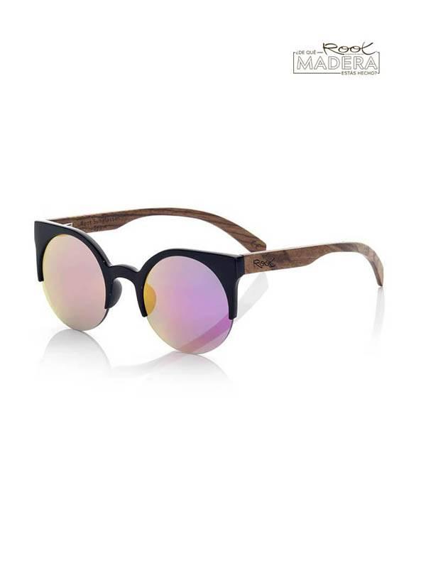 Gafas de sol de Madera CAT BLACK MIX [GFJA41] para comprar al por Mayor o Detalle en la categoría de Gafas de Sol de Madera Root