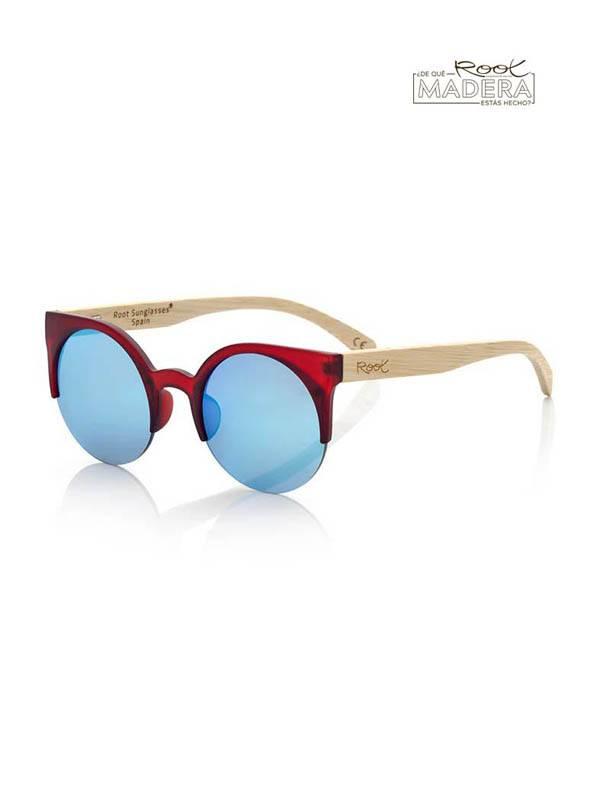 Gafas de Sol de Madera Root - Gafas de sol de Madera CAT RED MIX GFJA43 para comprar al por Mayor o Detalle en la categoría de Complementos Hippies Alternativos