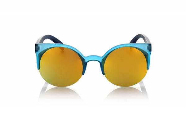 Gafas de sol de Madera CAT BLUE MIX [GFJA45] para comprar al por Mayor o Detalle en la categoría de Gafas de Sol de Madera Root