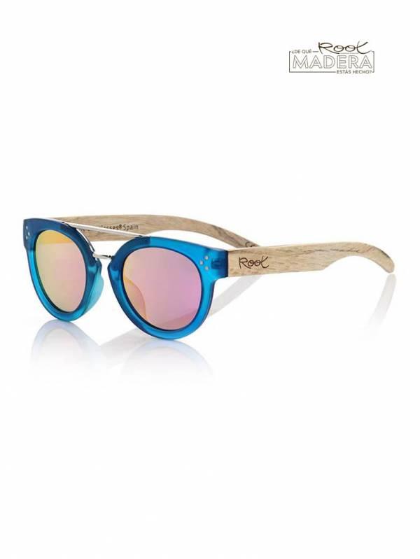 Gafas de sol de Madera ISLAND BLUE MX [GFJA57] para comprar al por Mayor o Detalle en la categoría de Gafas de Sol de Madera Root
