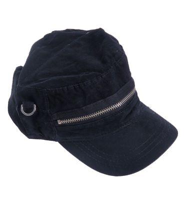 Gorra lisa decoración cremallera, regulable, algodón Comprar - Venta Mayorista y detalle