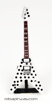 Decoración Etnica - Guitarras eléctricas, miniaturas hechas al super-detalle en madera, fibra, y decoradas con aerógrafo, incluye pié. GUI2_A para comprar al por Mayor o Detalle en la categoría de Artículos Artesanales