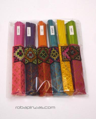Incienso - Incienso Thai en bolsita de seda (paquete de 6 bolsas en aromas variados) [IN18] para comprar al por mayor o detalle  en la categoría de Artículos Artesanales.