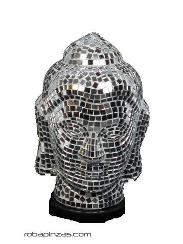 Lampara buda pequeña, en fibra revestida de cristal en mosaico Comprar - Venta Mayorista y detalle