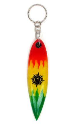 Llavero tabla surf rasta. llavero realizado en madera con forma de Comprar - Venta Mayorista y detalle