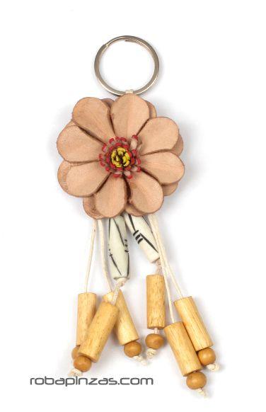 Llavero flor de cuero pequeña Comprar - Venta Mayorista y detalle