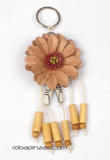 Llavero flor de cuero grande Comprar - Venta Mayorista y detalle