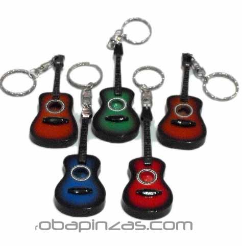 Llaveros, miniaturas de guitarras españolas de colores , Comprar - Venta Mayorista y detalle