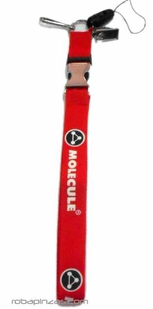 Llavero para el cuello con clip separador metálico