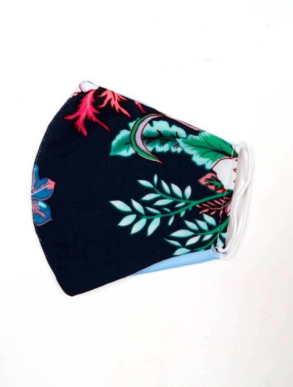 Mascarilla de tela de Flores [MAPO01-B] para comprar al por Mayor o Detalle en la categoría de Cintas pelo / Máscaras