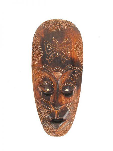Decoración Etnica - Mascara étnica tribal 40cm [MASB11] para comprar al por mayor o detalle  en la categoría de Artículos Artesanales.