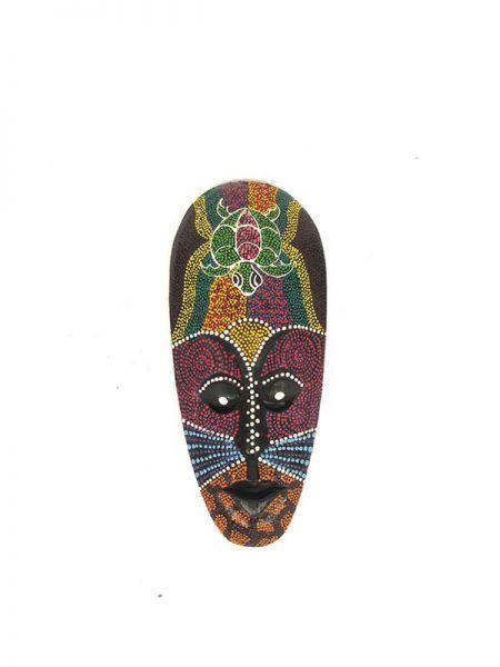 Máscara étnica tribal hecha a amno en madera coloreada Comprar - Venta Mayorista y detalle