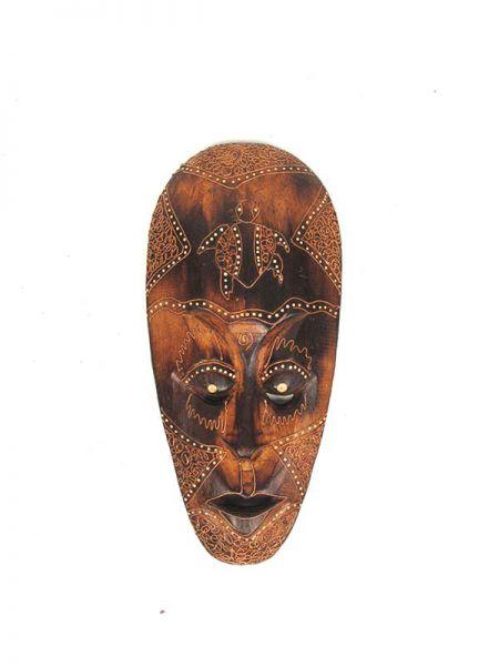 Decoración Etnica - Máscara étnica tribal 25cm [MASB13] para comprar al por mayor o detalle  en la categoría de Artículos Artesanales.
