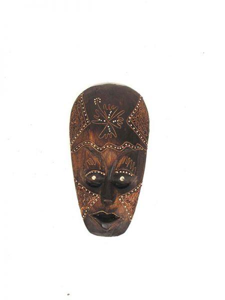 Decoración Etnica - Máscara étnica tribal 25cm [MASB3] para comprar al por mayor o detalle  en la categoría de Artículos Artesanales.