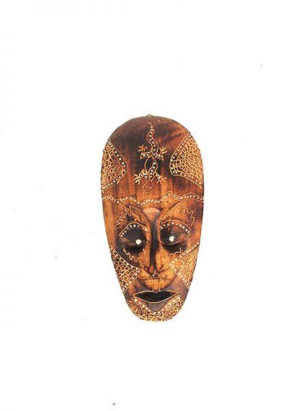 Máscara estilo étnico tribal de madera tallada y decorada Comprar - Venta Mayorista y detalle
