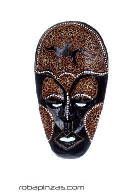 Máscara étnica tribal 25cm [MASB3]. Decoración Etnica para comprar al por mayor o detalle  en la categoría de Artículos Artesanales.