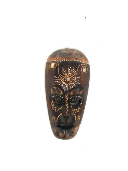 Máscara en madera decorada antik alto 25cm Comprar - Venta Mayorista y detalle