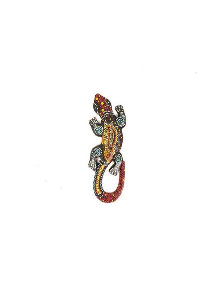 Decoración Etnica - Gecko étnico tribal dotpaint 20cm [MASGE15] para comprar al por mayor o detalle  en la categoría de Artículos Artesanales.