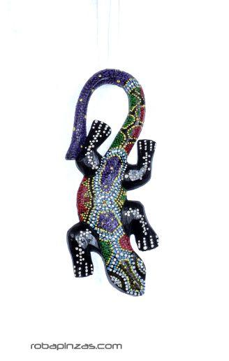 Gecko madera de sono decorada, tamaño 20cm aprox. ** Debido a la [MASGE1] para Comprar al mayor o detalle