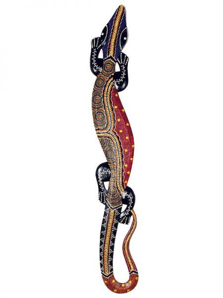 Gecko hecho a mano con madera de sono y decorada con la técnica Comprar - Venta Mayorista y detalle