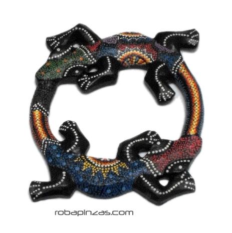 Gecko doble madera de sono decorada, tamaño pequeño Comprar - Venta Mayorista y detalle