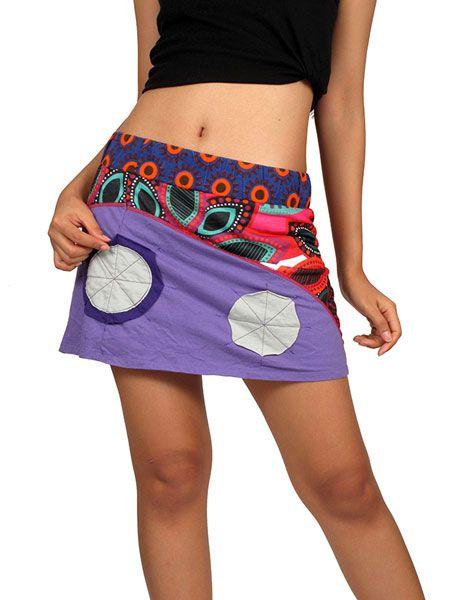 Minifalda hippie patchwork de flores Comprar - Venta Mayorista y detalle