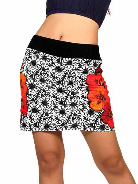 Minifalda hippie Flores laterales Comprar - Venta Mayorista y detalle