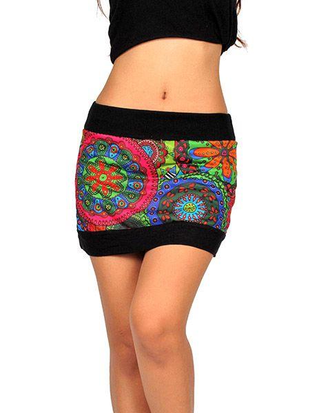 Minifalda hippie Flores Mandalas Comprar - Venta Mayorista y detalle