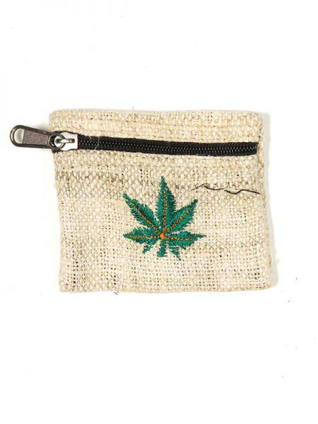 Monedero cáñamo hippie bordado a mano MOHE01 para comprar al por mayor o detalle  en la categoría de Complementos Hippies Étnicos Alternativos.